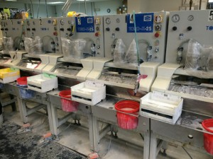 Eyeglass lenses surfacing machines.